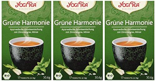 Yogi Tea Grüne Harmonie Bio, 3er Pack (3 x 30.6 g)