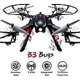 Motores Quadcopter RC Drone-MJX Bugs 3 Drums Brushless-300Meter Control de Vuelo, 18 Mines Tiempo de Vuelo RTF Drone Gopro para Drone Racing