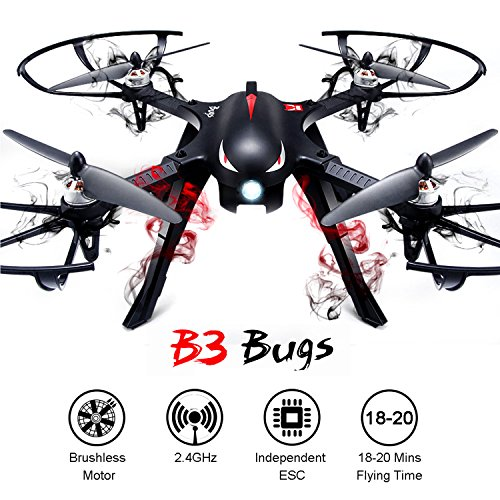 MJX B3 Bugs Guideline Quadcopter Drone Bidirektionale 2.4G 4CH 6-Achsen Gyro Kamera Drayman Drone mit Brushless Motor And Permitted Elbow-latitude Battery-----YACOOL (MJX B3 Drone)