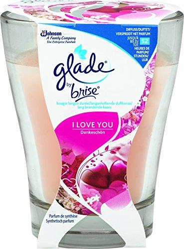 Glade By Brise Bougie Parfumée, Bouquet Romantique, Jusqu'à 52h de Combustion, I Love You, 224 g