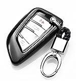 YUWATON KFZ Schlüssel Cver KFZ Schlüssel Fall Auto Fernbedienung, für Mercedes-Benz A B C E Class GLA GLC GLE Schlüsselanhänger Key Cover Schutz Schlüssel Button Schwarz