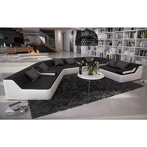 Sofa rund design  Rund-Sofa mit Bezug aus schwarzem Microfaser 410x272 cm halbrund ...
