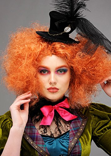 Magic Box Int. Lockige Auburn Mad Hatter Perücke für Damen