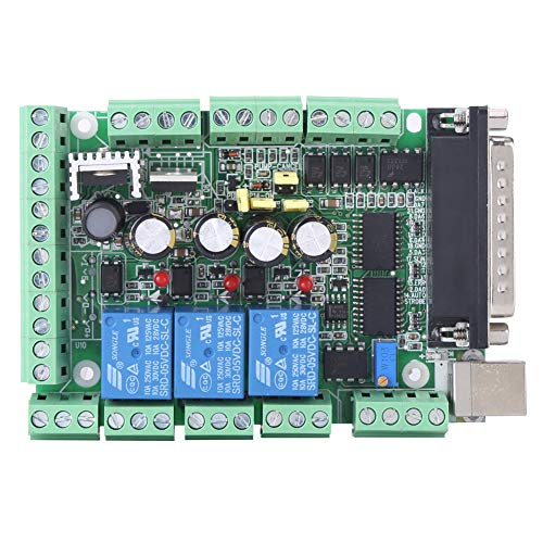 Interface-Breakout-Board für Graviermaschine, CNC-Graviermaschine Breakout-Board-Adapter für MACH3V2.1-L 4-Achsen-Controller mit 6 Achsen
