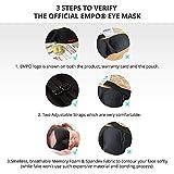EMPO Eye Mask Sleep Mask 3D Soft Memory Foam, Free Ear Plugs, Adjustable Straps