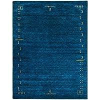 Morgenland Gabbeh Teppich 150 x 200 cm Handgearbeitet, Schurwolle, Blau, 200 x 150 x 1.8 cm