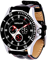 Origlow Accessories Analogue Black Dial Men's Watch -M1