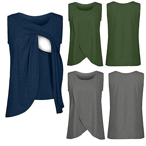 ❤️ Débardeurs Classique de Maternité Solike Femmes Enceinte Grossesse Vêtements de maternité Tops de maternité T-Shirt Gilet de Allaitement Blouse Tops T-Shirt Cami
