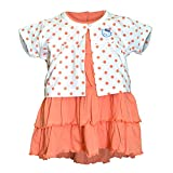 Orange and Orchid Baby Girls Cotton Froc...