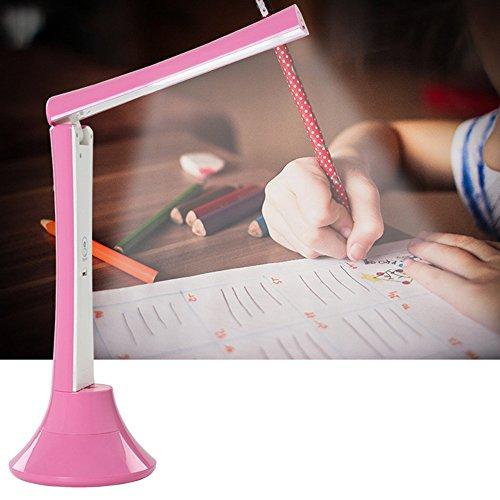 Wanson Tischlampe Modern Schlafzimmer Lagerplatz Lampe Faltung Energiesparlampe LED Touch Tischlampe Durchmesser 12Cm Rosa Tischlampe