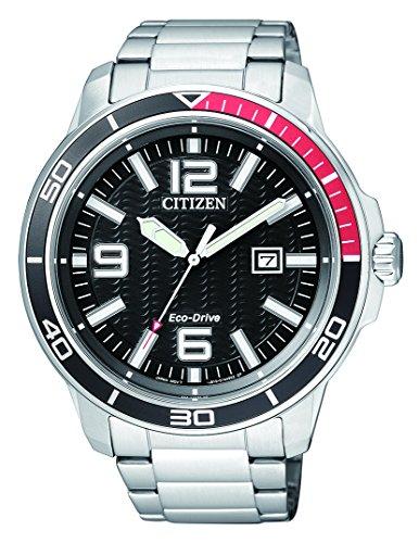 Citizen Hombre Reloj de Pulsera analógico Cuarzo Acero Inoxidable aw1520–51E