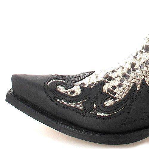 Sendra Boots3241 - Stivali western Unisex – adulto Nero (Nego Pyton Natural)