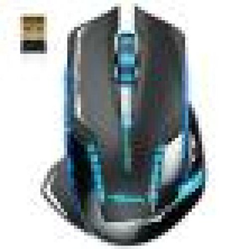 oyedens Luxus Tragbare E-3LUE 6D Mazer II 2500DPI Blau LED 2,4GHz Wireless Gaming Maus -