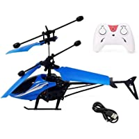 Vikas gift gallery Remote Control and Hand Sensor Charging Helicopter Toys with 3D Light Toys for Boys Kids (Indoor…