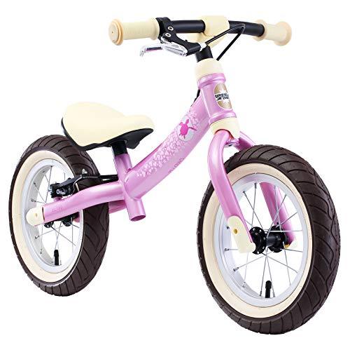 BIKESTAR 2-en-1 Vélo Draisienne Enfants pour Filles de 3-4 Ans Vélo sans pédales évolutive 12 Pouces Sportif Croissante Cadre Rose