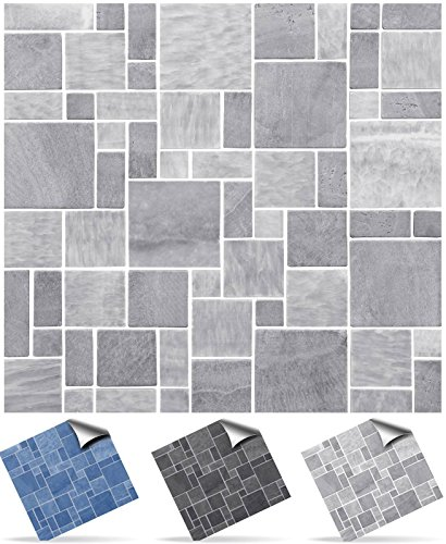 2-light-grey-self-adhesive-mosaic-wall-tile-decals-for-150mm-6-inch-square-tiles-tp31-very-realistic
