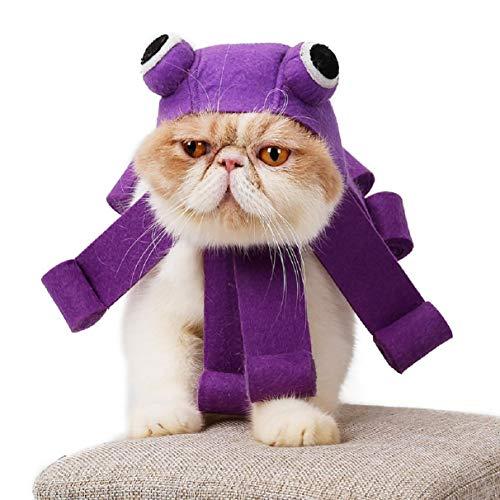 Octopus Hat Design, Katze Cosplay Hut Haustier Katze KostüM Cap Urlaub KostüM FüR Pet Festival, Party, KostüM FüR Haustier Kleidung ()