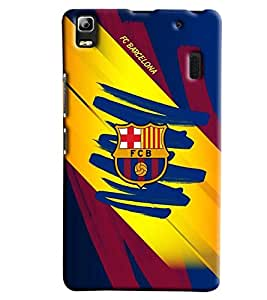 Clarks Fcb Hard Plastic Printed Back Cover/Case For Lenovo A7000