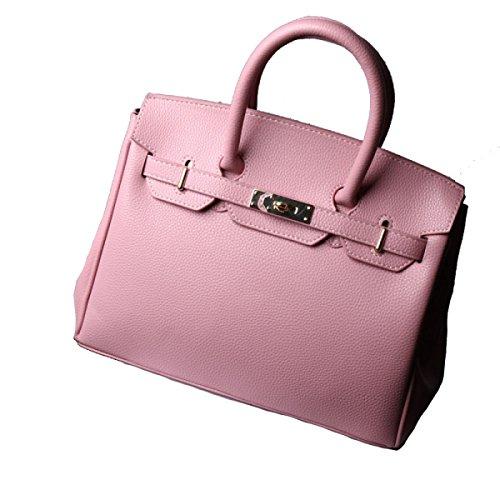 Solido Di Modo Della Signora Di Colore Messenger Bag Multi-color Pink