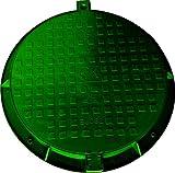 Schachtabdeckung, Zisternendeckel, Schachtdeckel, Gullydeckel, Belastung bis 1,5 t, 780 mm, Grün