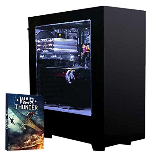 VIBOX Warrior 4 PC Gamer - 4,1GHz AMD FX 6-Core CPU, GPU RX 460, Extrême, Avancé, Ordinateur PC de Bureau Gaming paquet de jeux, unité centrale, Éclairage Interne Blanc (3,5GHz (4,1GHz Turbo) Processeur CPU Six 6-Core AMD FX 6300 Ultra Rapide, Carte Graphique AMD Radeon RX 460 2 Go, 8 Go Mémoire RAM DDR3 1600MHz Grande Vitesse, Disque Dur Sata III 7200rpm 1 To (1000 Go), Ventilateur de processeur PC à Air Raijintek Aidos, PSU 85+, Boîtier NZXT S340 Noir, Pas de Système d'Exploitation Windows)