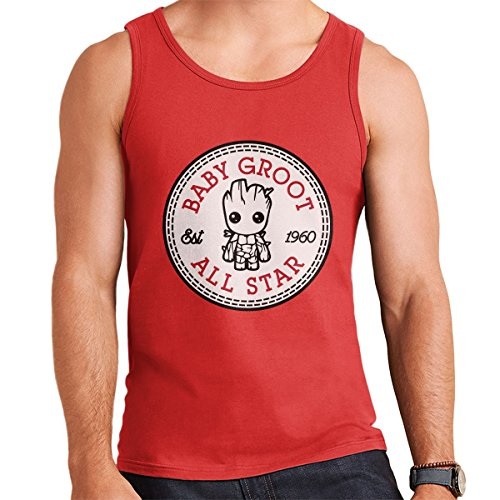 Guardians Of The Galaxy Baby Groot All Star Converse Men's Vest Red