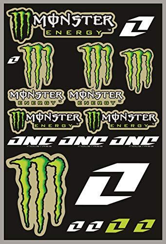 KIT STICKERS ADESIVI MONSTER SPONSOR MOTO COMPATIBILI PER KTM HONDA YAMAHA KTM CROSS ENDURO CASCO (45)