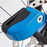 Oyedens Fahrrad Anti Diebstahl Sicherheits ZubehöR Kleine Fahrrad Alarm Disc Sperre Schlösser (Blau)