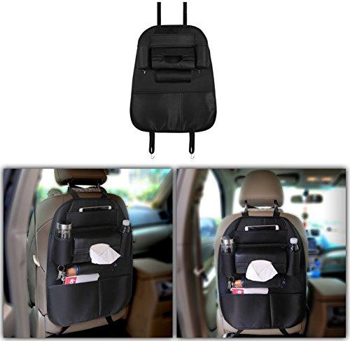 GPCT [wasserfest] Multi Pocket [iPad Tablet-Halter] Auto Rücksitz Organizer. 7Lagerung Taschen für Flaschen/Regenschirm/Cds, 2Metall Haken zum Aufhängen [kratzfest] Kick Guard Matte Sitz Farbton: Kids/Baby