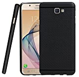 Jkobi® 360* Protection Premium Dotted Designed Soft Rubberised Back Case Cover For Samsung Galaxy J5 Prime -Black
