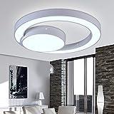 LYXG Led deckenlampe Deckenleuchte modernes Wohnzimmer Schlafzimmer Bügeleisen Deckenleuchte, 60cm, Tri-color Dimmer
