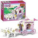 COGO Girls Princess Carriage Building Blocks per Ragazze Princess Toys Girls Building Connecting Construction Bricks Building Present Blocks 98pcs-3267
