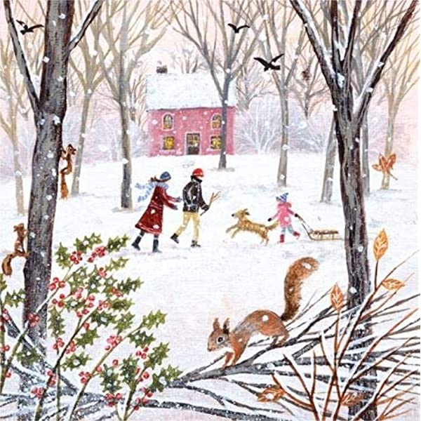 17.8 x 13 cm Iced Over by Annie Soudain Museums /& Galleries Pack of 8 Charity Christmas Cards