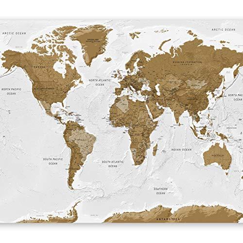 Murando - fotomurali - 300x210 cm - carta da parati sulla fliselina - carta da parati in tnt - quadri murali xxl - murando - fotomurali - mappa del mondo continente k-a-0093-a-a