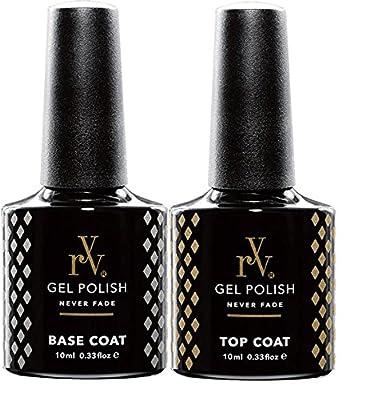 RYV by Bluesky UV Gel Shellac Nail Polish Top Coat and Base Coat