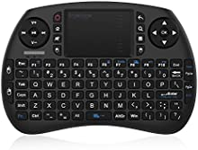 EgoIggo 2.4GHz Mini teclado inalámbrico Touchpad ratón compatible con Raspberry Pi Android Box?Google Box?Pad PC Smart TV control remoto ?Negro?