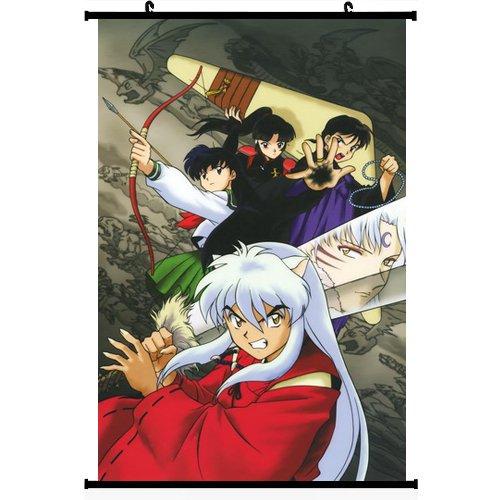 """Coocool® Realista decoración de la pared Scroll inspirado en Anime Inuyasha (24""""* 35"""") (apoyo personalización)"""
