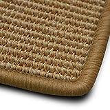 casa pura Sisal Teppich myStyle | viele Größen | mit Umkettelung in Wunschfarbe | für modernes und individuelles Wohnen (beige umkettelt, 80x150 cm)