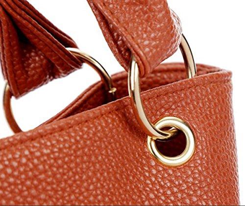 Keshi Niedlich Damen Handtaschen, Hobo-Bags, Schultertaschen, Beutel, Beuteltaschen, Trend-Bags, Velours, Veloursleder, Wildleder, Tasche Braun