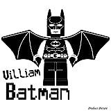 Lego, Legos, Lego-Figur, Lego, Fihures Lego Menschen, Menschen, Lego-Spiel Motiv: Name, personalisiert, Name, Firma Sticher Stichers, Batman (x 59 cm 50 cm) Farbe: Schwarz, das Badezimmer, Kinderzimmer, Kind-Raum-Aufkleber Auto Vinyl, Fenster und Wand Sticker Wand Windows-Art ThatVinylPlace Wandtattoo,