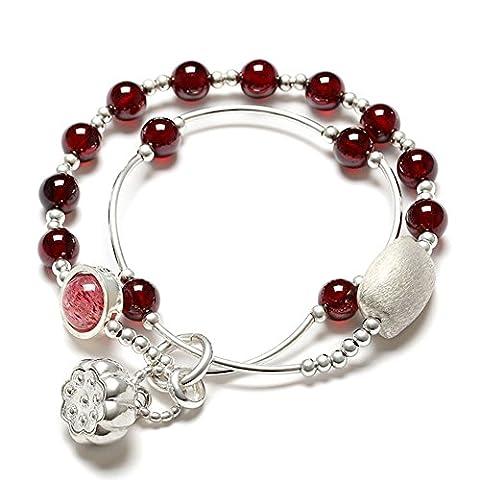 bracelet grenat rouge vin national vent/Ring fashion bracelet en cristal/ multiples Mesdames bracelets