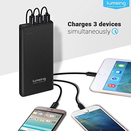 LUMSING-Glory-Series-P2-Plus-Batera-externa-Power-Bank-15000mAh-Carga-rpida-30-USB-y-USB-tipo-C-Cargador-porttil-de-3-puertos-para-iPhone-iPad-Smartphones-Tablets-y-otros-dispositivos-USB-Negro