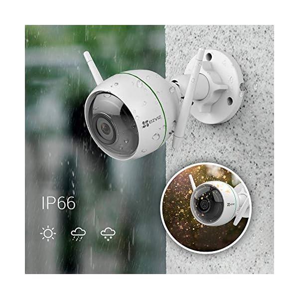 EZVIZ-C3WN-1080p-Telecamera-di-Sorveglianza-Esterna-WiFi-Videocamera-Night-Vision-Doppia-Antenna-WiFi-IP66-Antipolvere-e-Impermeabile-EZVIZ-Servizio-di-Cloud-Compatibile-con-Alexa