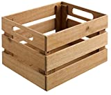 Holzkiste Wantage mit Griff Eiche, 25x30x18cm (BxLxH), eiche, mit Griff 1 Stück