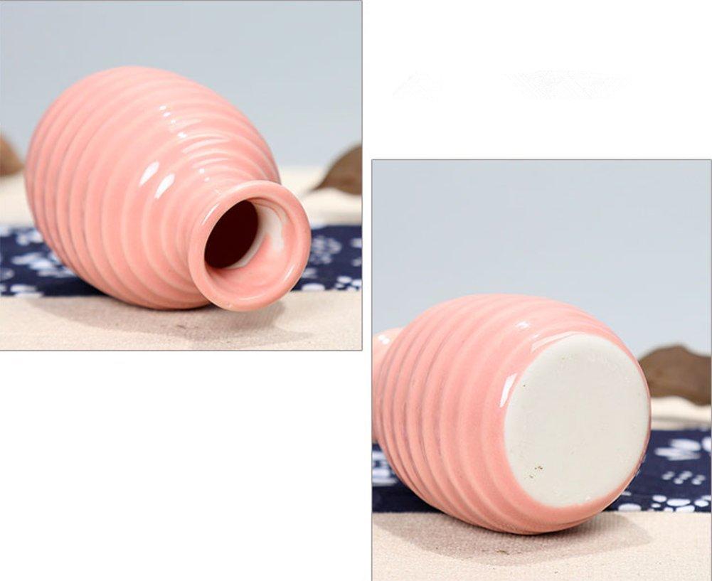 Cdet Florero pequeño jarrón de cerámica artesanía Sencilla Muebles de Oficina Creativa Escritorio de cerámica frascos de…