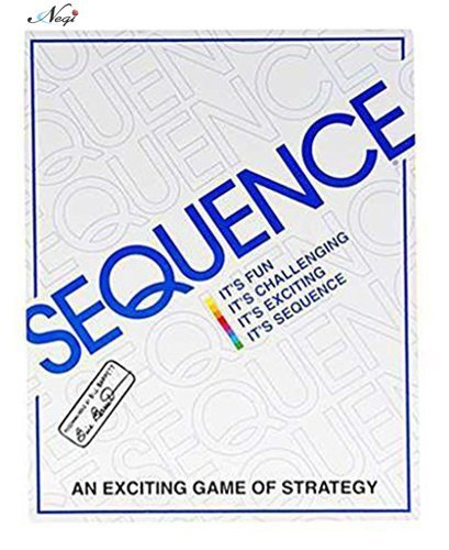 Negi White Sequence Card Game Toy, White Big Size