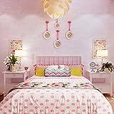 Thatch Süße Prinzessin rosa Kinder Zimmer Tapeten Schlafzimmer Nachttisch Studie Zimmer schlicht Vliestapete