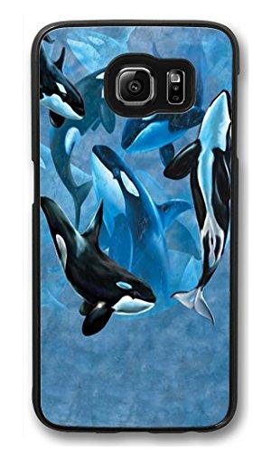 S6Étui Coque, Galaxy S6, Amortissement Coque arrière pour Samsung Galaxy S6Orque Collage rayures Coque arrière rigide pour Samsung Galaxy S6