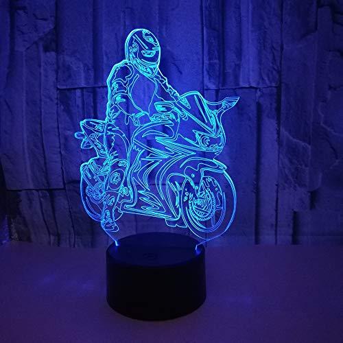 Lampada moto comodino camera da letto luce notturna decorazione compleanno colore lampada per bambini decorazione gocciolamento trasporto
