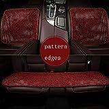 LONG Auto-Sitzkissen, Holzperlen Auto-Sitzkissen Qualität super komfortable Massagekissen,C,threepiece